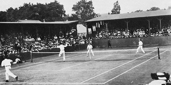 1907 Wimb Doubles final brookes-wilding v Behr Wright
