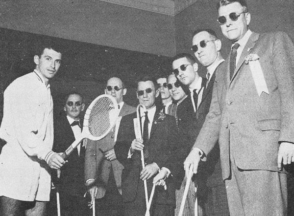 world tennis 1959 asley with blind linesmenaa