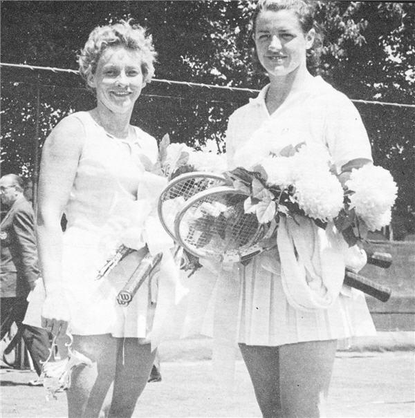 world tennis 1963 Marg Smith Darlene Hard Orange County US